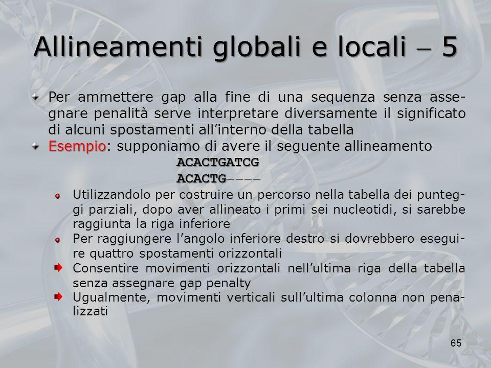 Allineamenti globali e locali  5