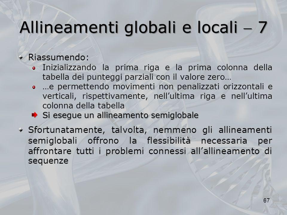 Allineamenti globali e locali  7