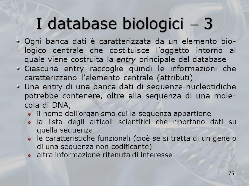 I database biologici  3