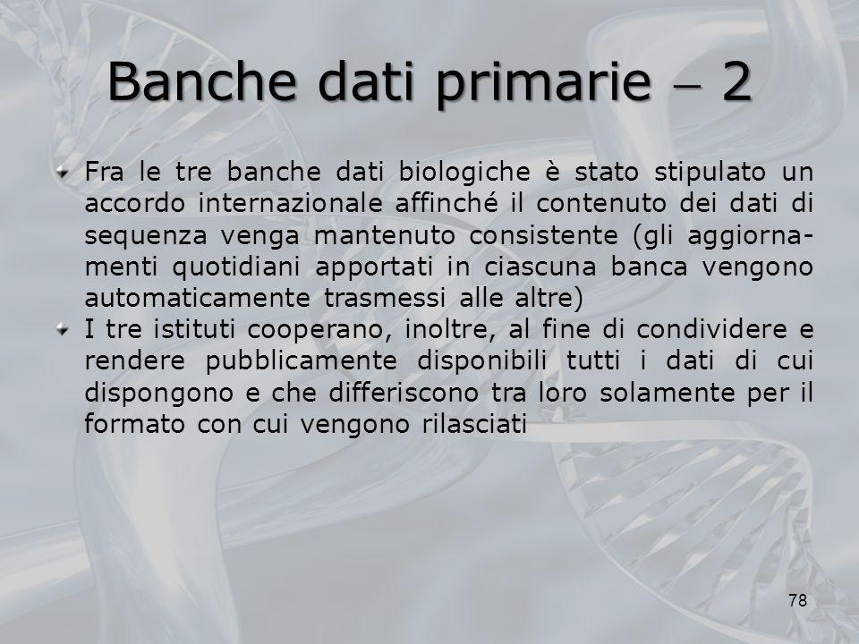 Banche dati primarie  2
