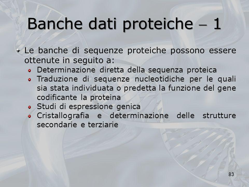 Banche dati proteiche  1