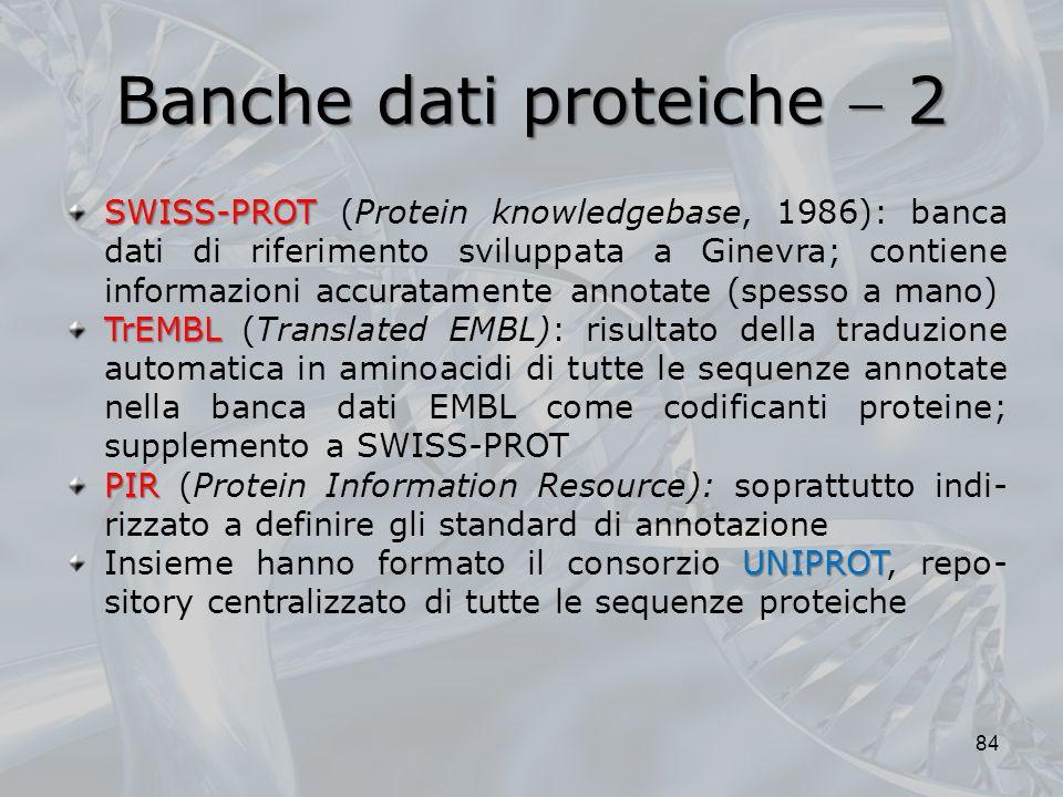 Banche dati proteiche  2