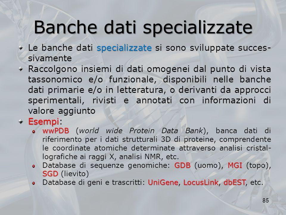 Banche dati specializzate