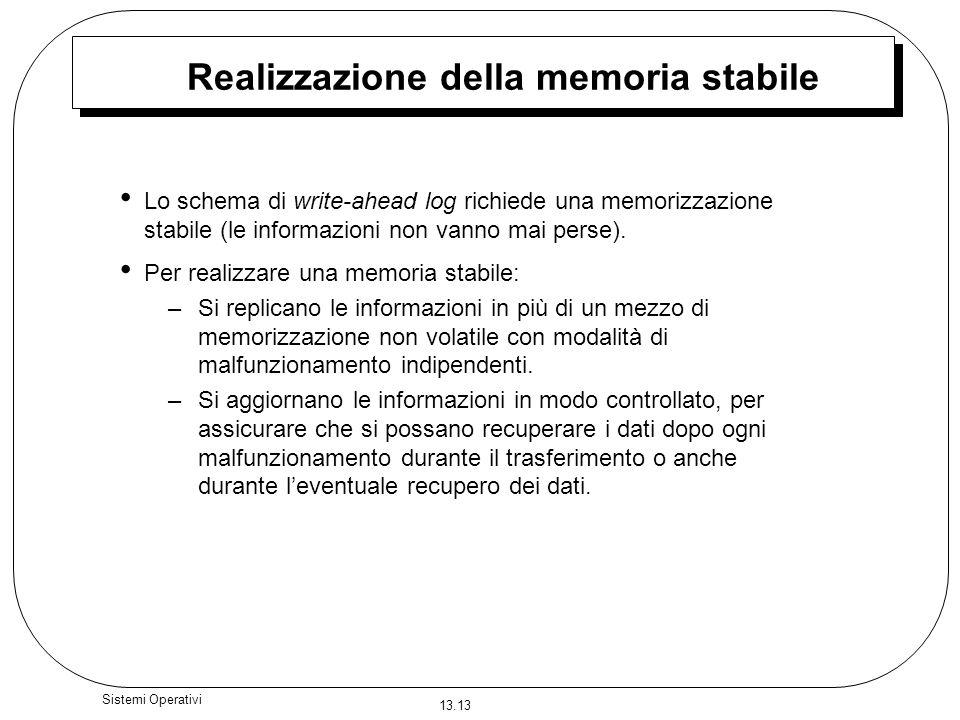 Realizzazione della memoria stabile