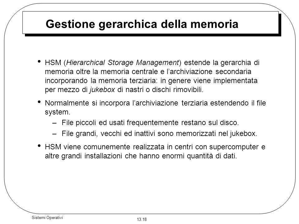 Gestione gerarchica della memoria