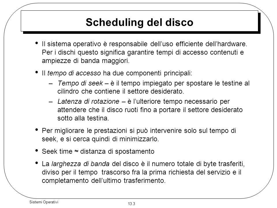 Scheduling del disco