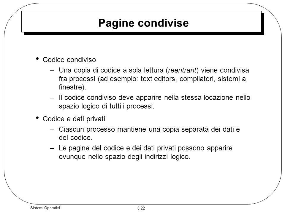 Pagine condivise Codice condiviso