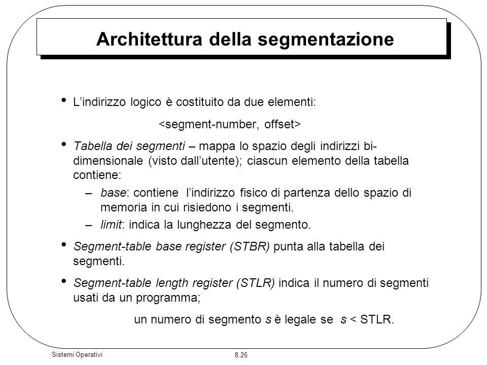 Architettura della segmentazione