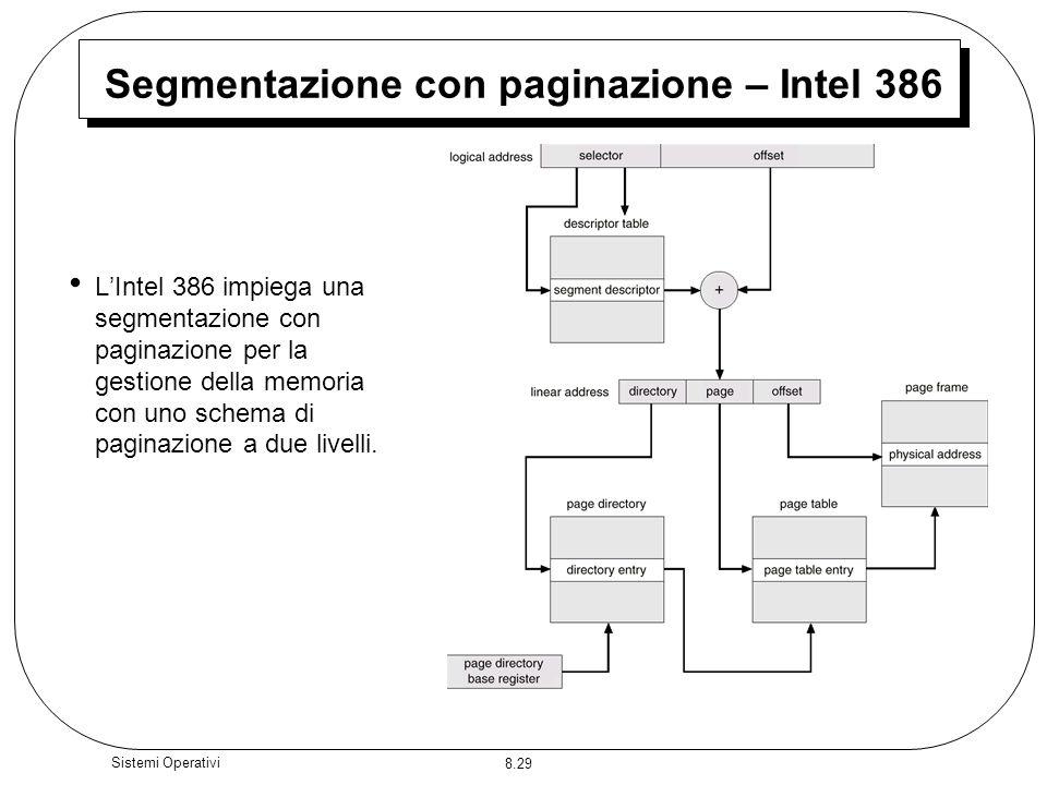 Segmentazione con paginazione – Intel 386