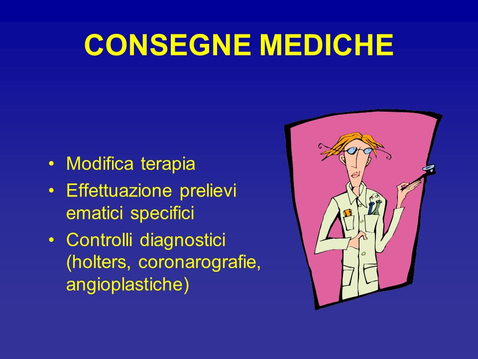 CONSEGNE MEDICHE Modifica terapia