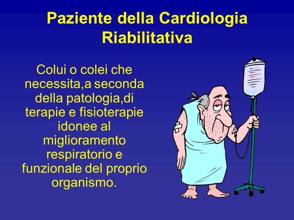 Paziente della Cardiologia Riabilitativa