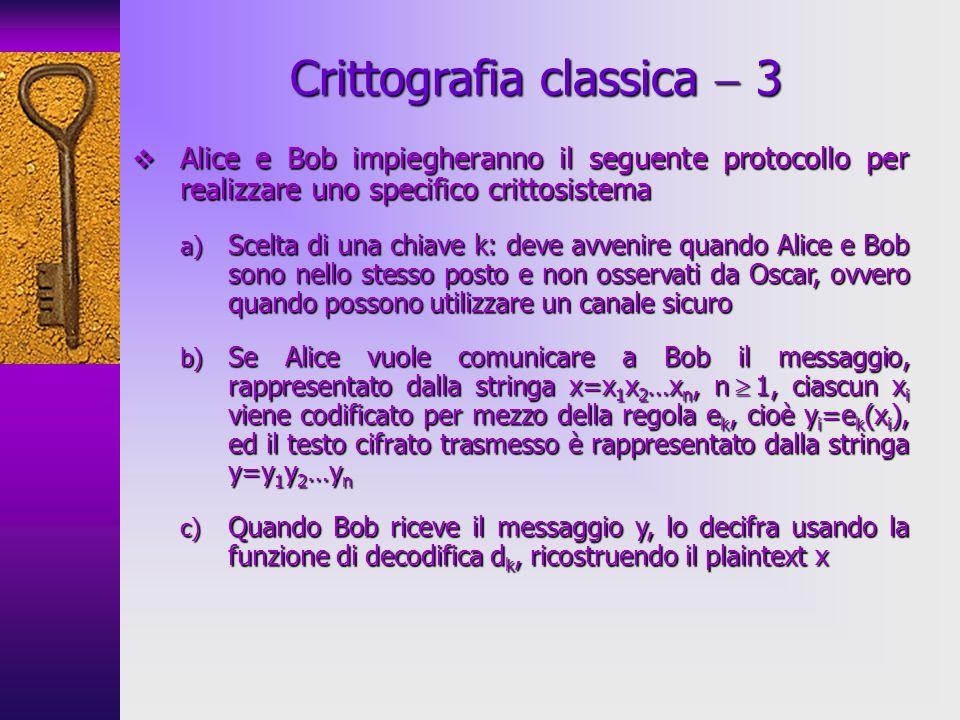 Crittografia classica  3