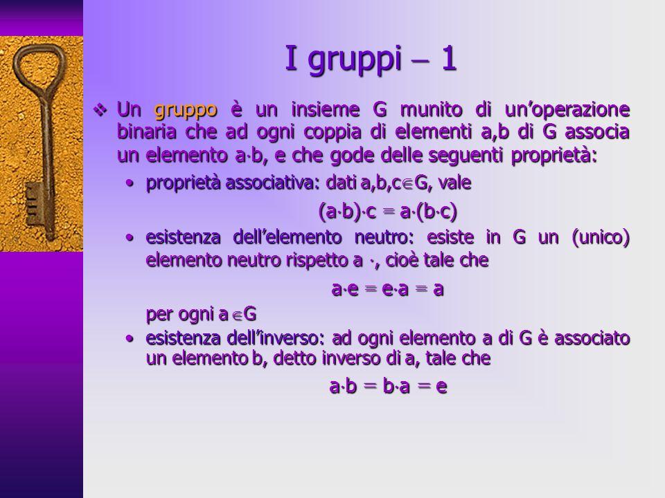 I gruppi  1