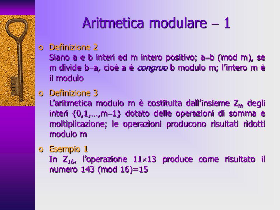 Aritmetica modulare  1 Definizione 2 Definizione 3