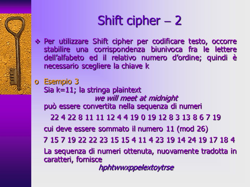 Shift cipher  2