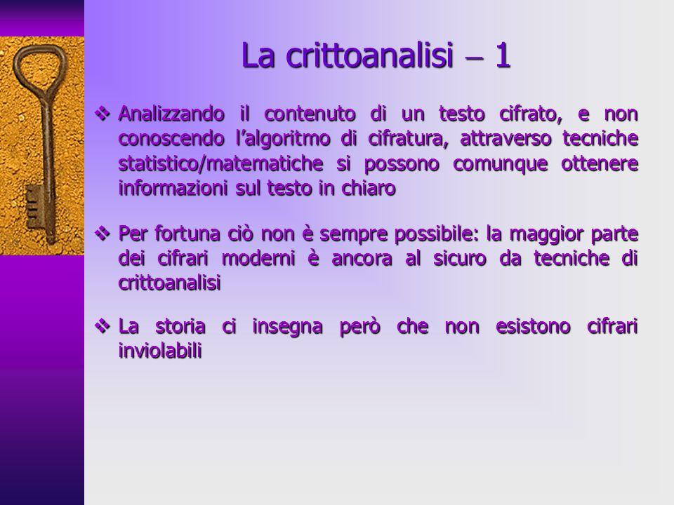 La crittoanalisi  1