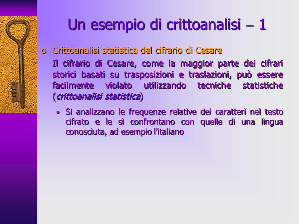 Un esempio di crittoanalisi  1