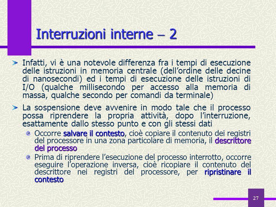Interruzioni interne  2