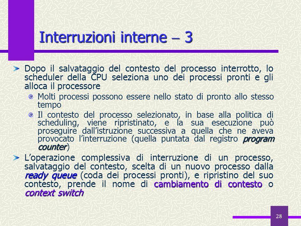 Interruzioni interne  3