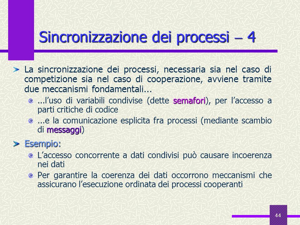 Sincronizzazione dei processi  4