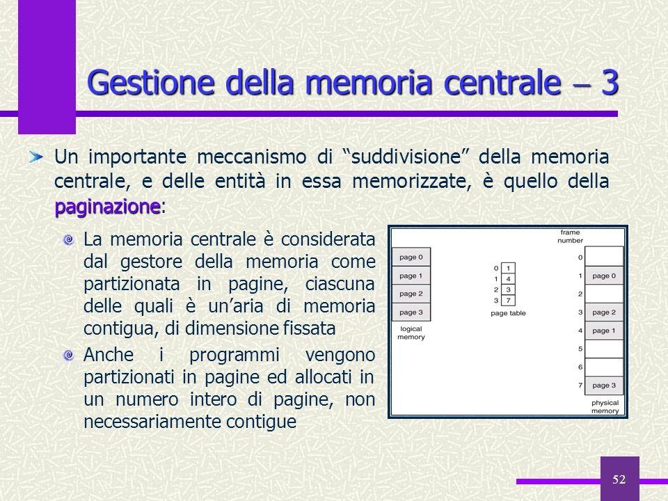 Gestione della memoria centrale  3