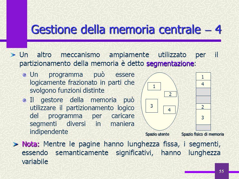 Gestione della memoria centrale  4