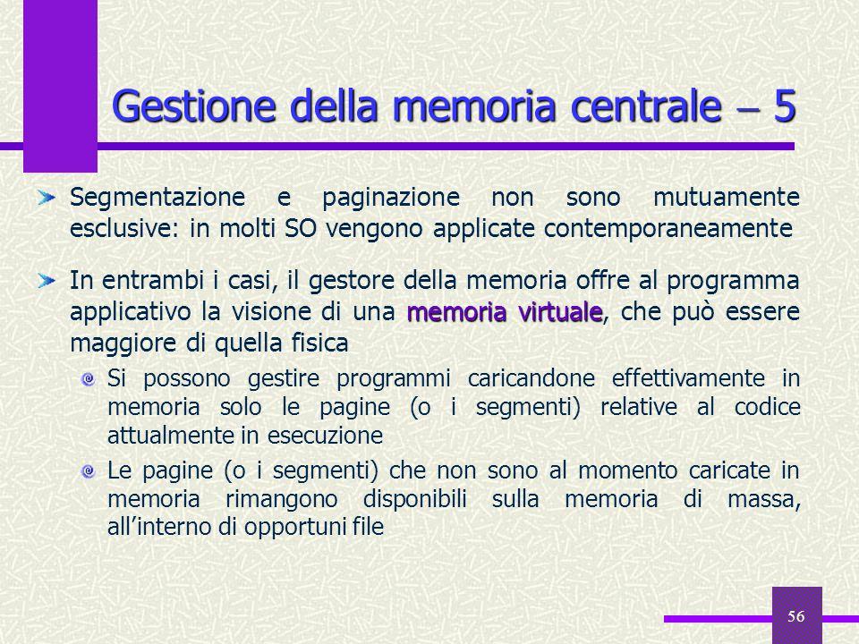 Gestione della memoria centrale  5
