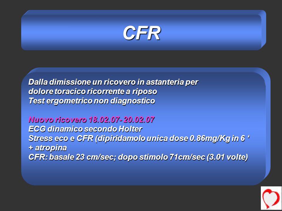 CFR Dalla dimissione un ricovero in astanteria per