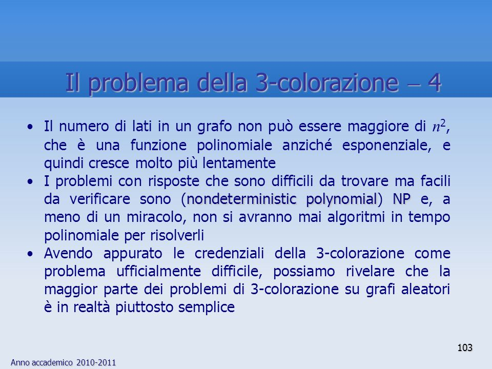 Il problema della 3-colorazione  4