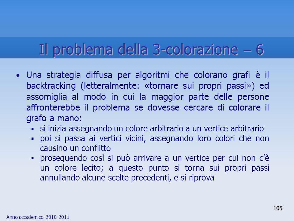 Il problema della 3-colorazione  6
