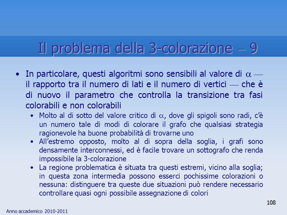 Il problema della 3-colorazione  9