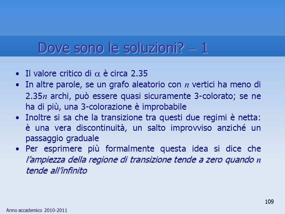 Dove sono le soluzioni  1
