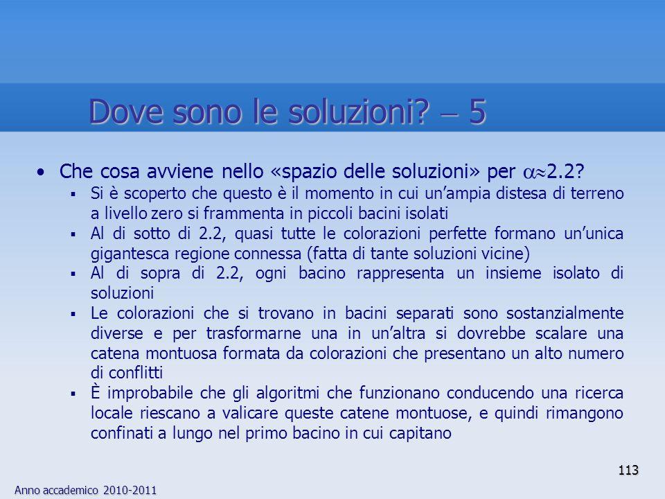Dove sono le soluzioni  5