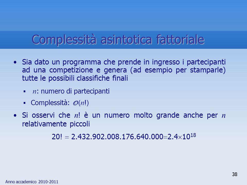 Complessità asintotica fattoriale