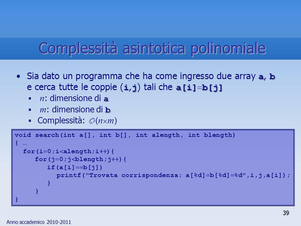 Complessità asintotica polinomiale