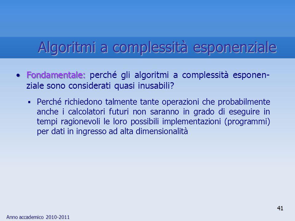 Algoritmi a complessità esponenziale