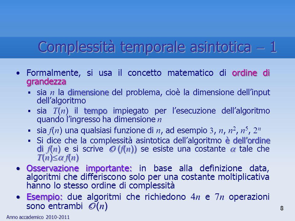 Complessità temporale asintotica  1