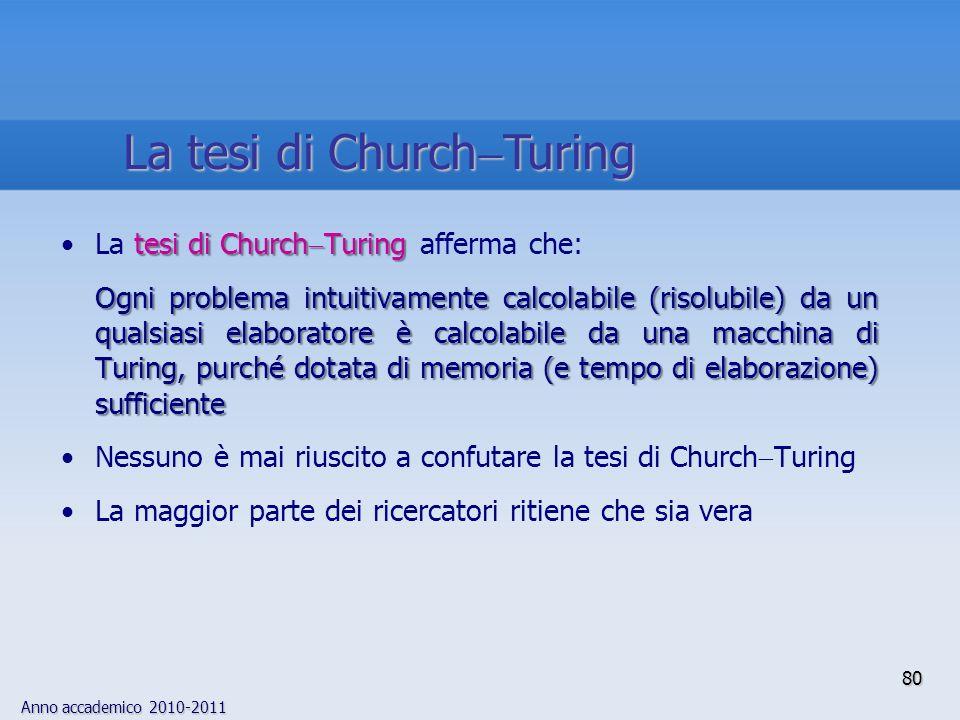 La tesi di ChurchTuring