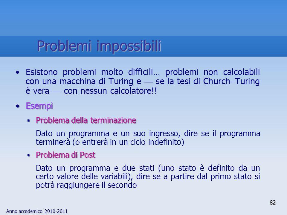 Problemi impossibili