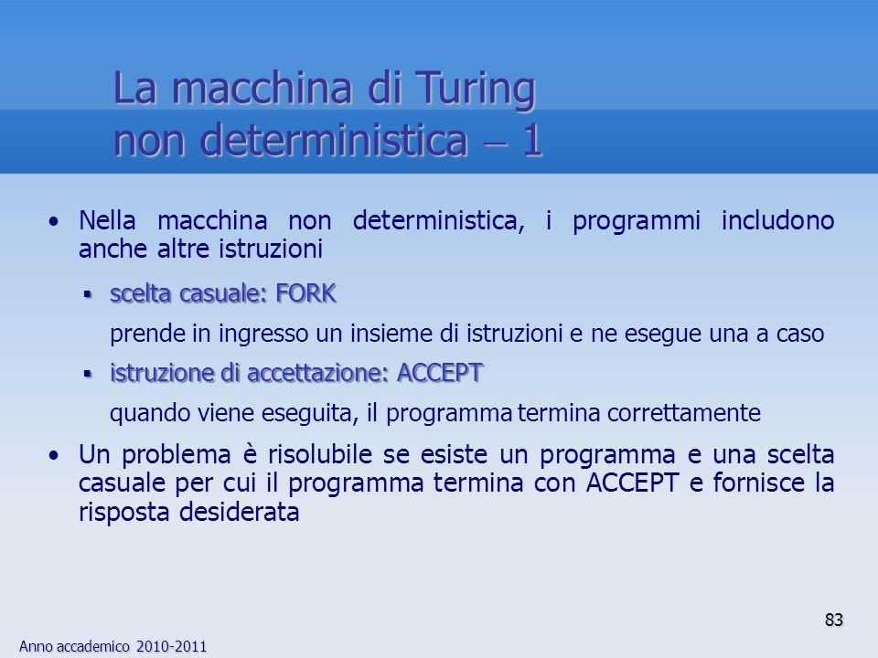 La macchina di Turing non deterministica  1