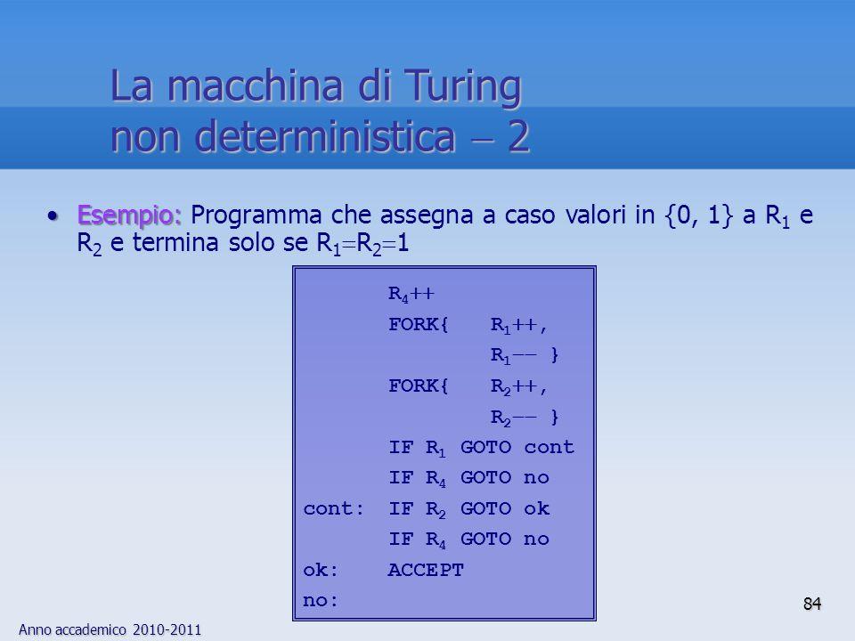 La macchina di Turing non deterministica  2 R4