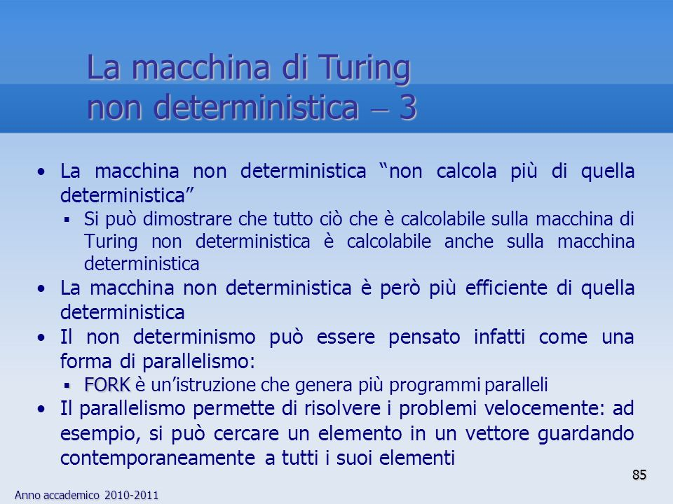 La macchina di Turing non deterministica  3