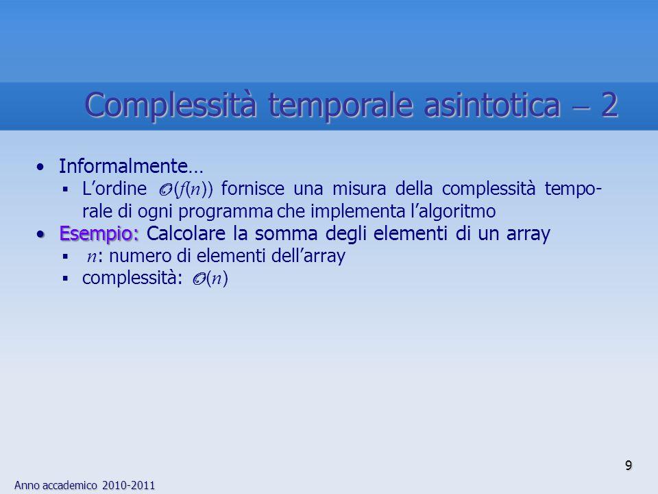 Complessità temporale asintotica  2