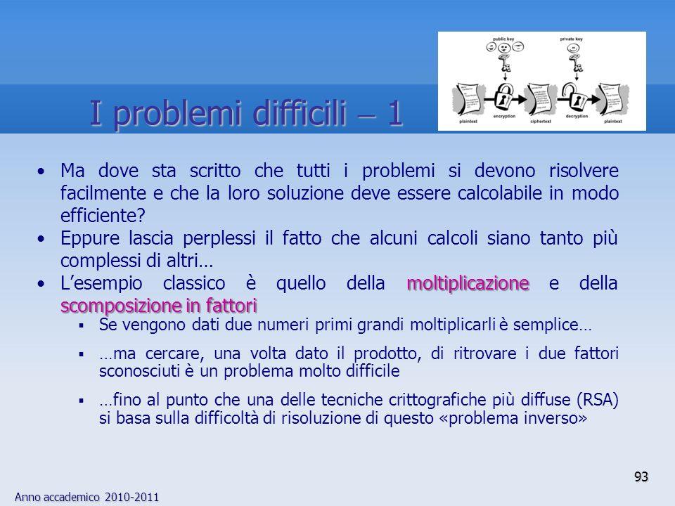 I problemi difficili  1
