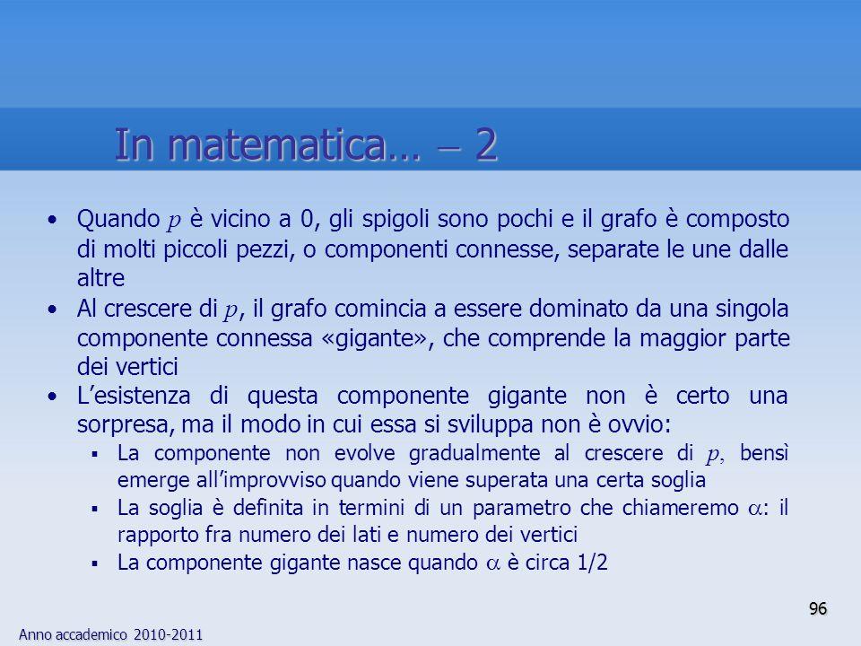 In matematica…  2