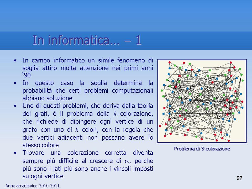 In informatica…  1 In campo informatico un simile fenomeno di soglia attirò molta attenzione nei primi anni '90.