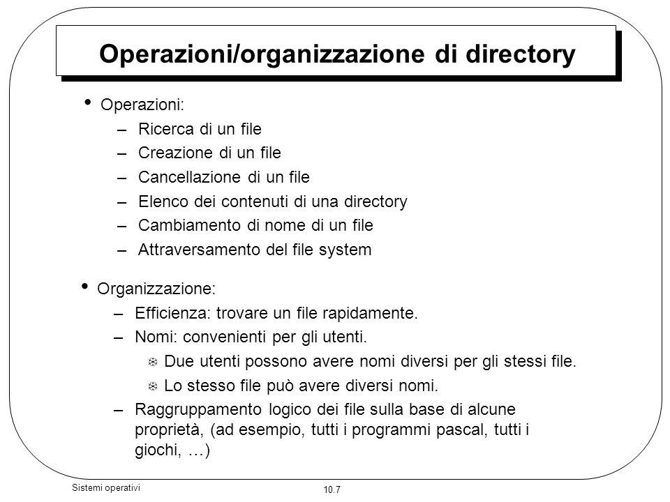Operazioni/organizzazione di directory