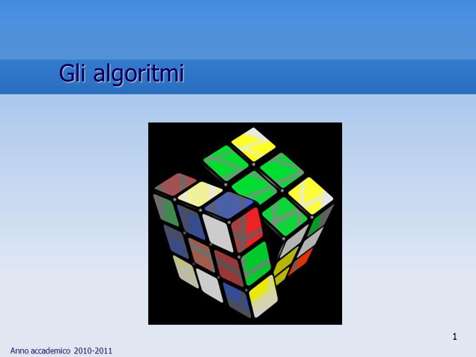 Gli algoritmi 1