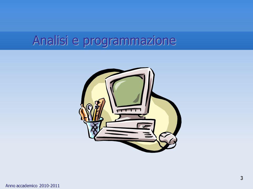 Analisi e programmazione