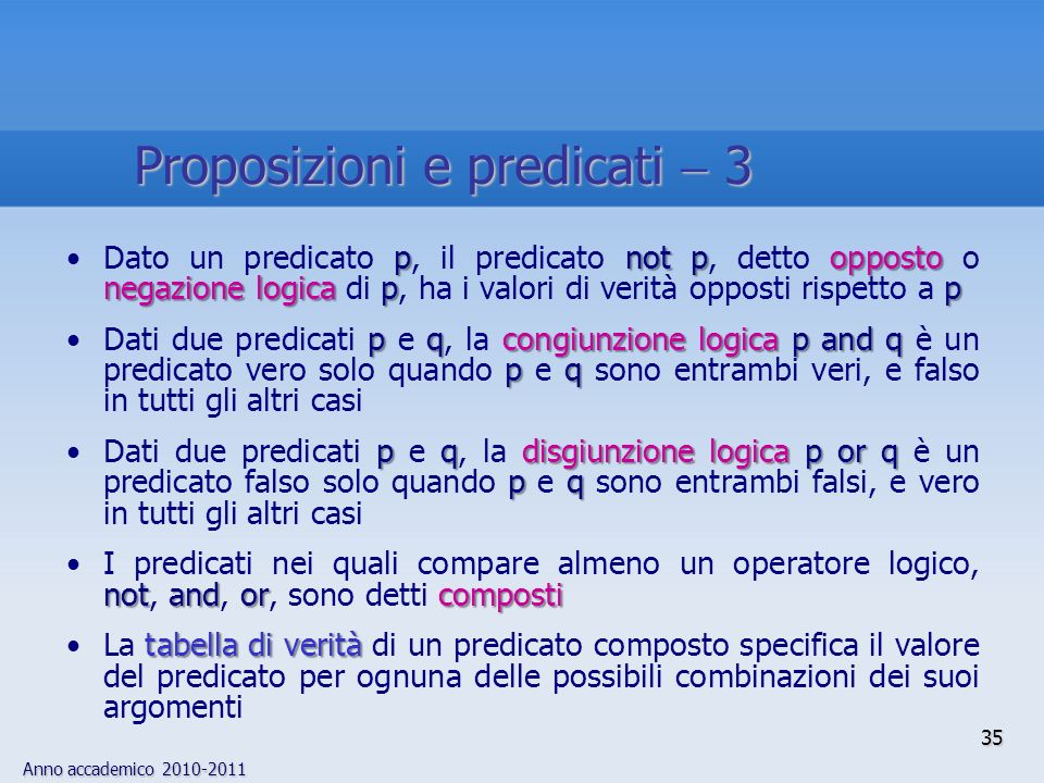 Proposizioni e predicati  3